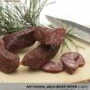 Wild boar biter - sausage from wild boar